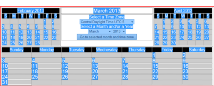 iEditWeb Calendar Application displayed