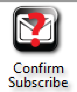 Confirm Subscribe Icon